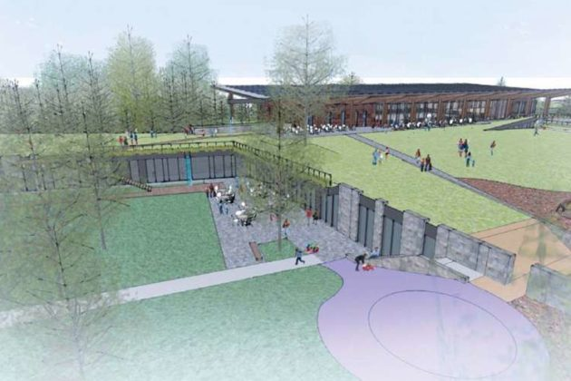 The proposed Lubber Run Community Center from the southwest