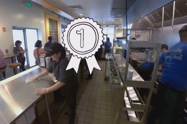 The virtual reality explaining a cashier's job.