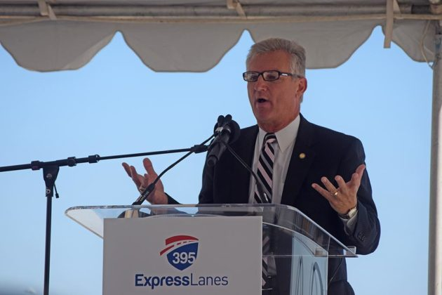 Virginia Transportation Secretary Aubrey Layne gives remarks