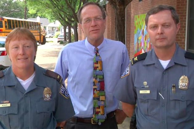 Lt. Susan Noack, Superintendent Patrick Murphy and Police Chief Jay Farr (Photo via APS)