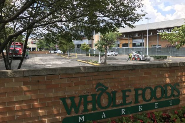 Clarendon Whole Foods parking lot resurfacing