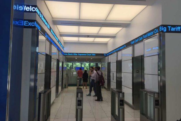 The Bloomberg BNA elevators.