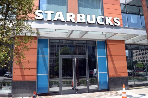 Starbucks at 1000 N. Glebe Road is close to opening