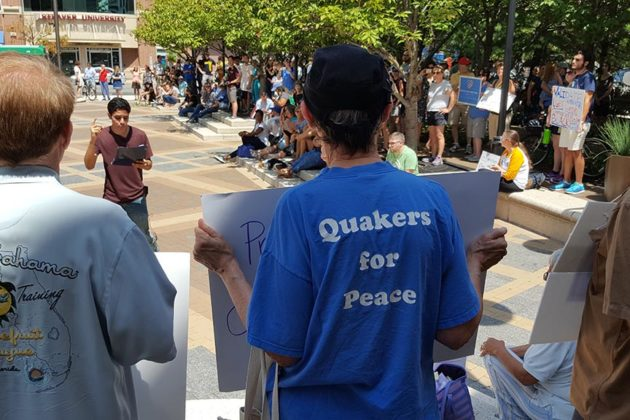 Rally of Solidarity for Charlottesville in Courthouse (photo courtesy Peter Golkin)