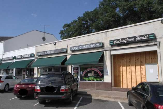 The flagship Ravi Kabob in the shopping center is nearby