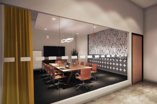 Spaces coworking office at Artisphere (rendering courtesy Spaces)