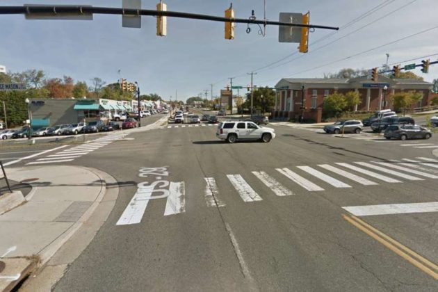 Lee Highway and N. George Mason Drive intersection (file photo via Google Maps)