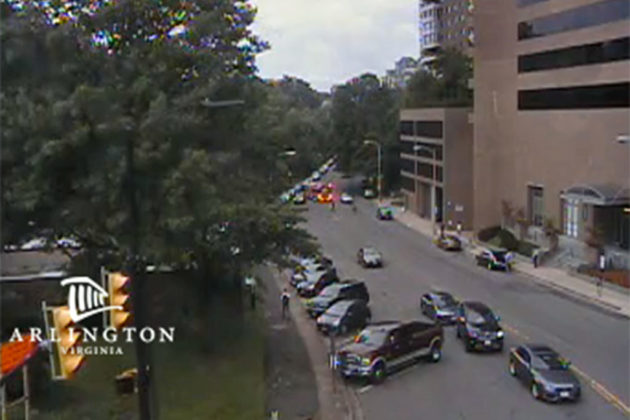 Crash on Fairfax Drive in Rosslyn