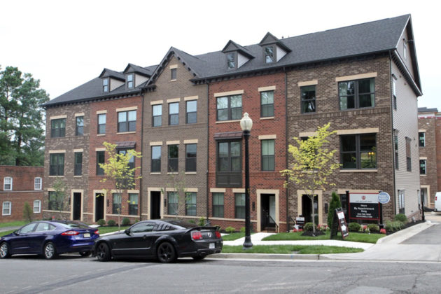 Arlington Row townhouse development in Westover