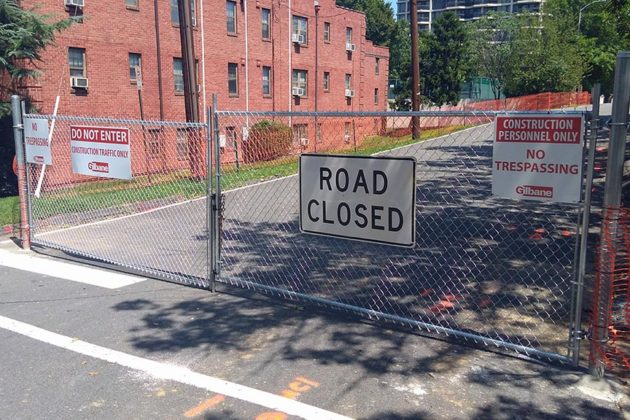 18th Street N. is closed for the Wilson School rebuild
