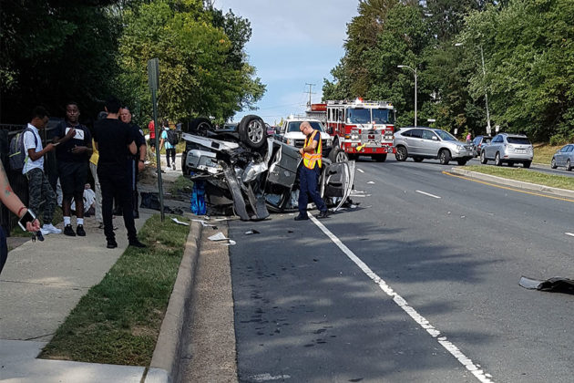 Crash on S. Walter Reed Drive (courtesy photo)