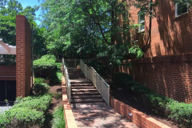 The courtyard's N. Stafford Street entrance (via county presentation)