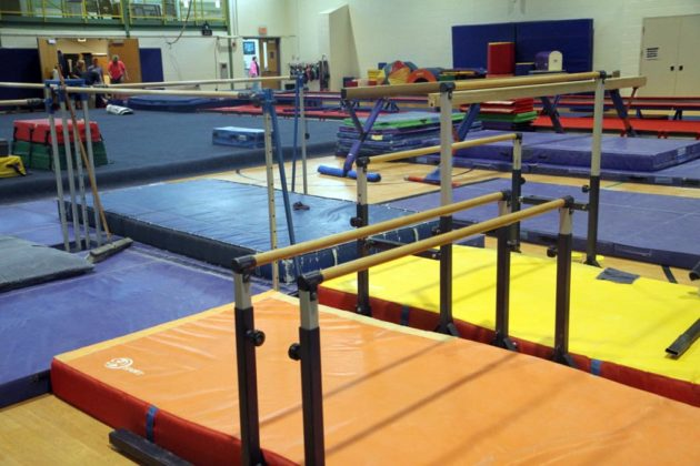 The renovation doubled the space for gymnastics at Barcroft