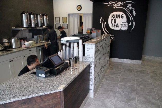 Customers can order black tea, fruit punch, slushes, milk, yogurt and espresso