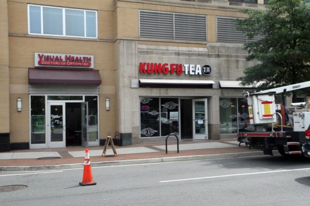 The store is between an optometrist and the Hanabi Ramen restaurant