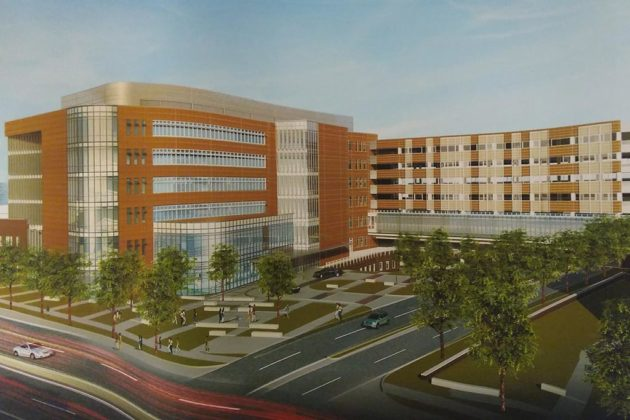 Virginia Hospital Center is proposing a major expansion (image via county plans)