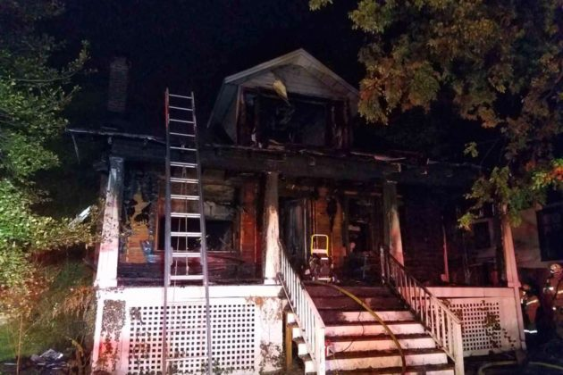 House fire on N. Ivy Street (photo courtesy ACFD)