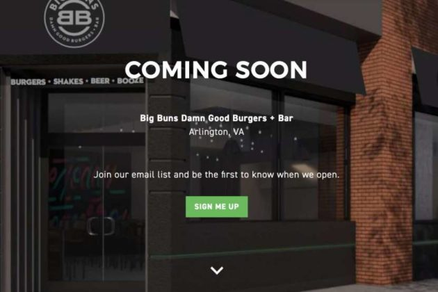 """Coming soon"" photo on the Big Buns website"