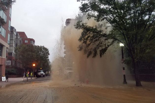 Water main break on N. Taylor Street in Ballston (courtesy Pablo P.)