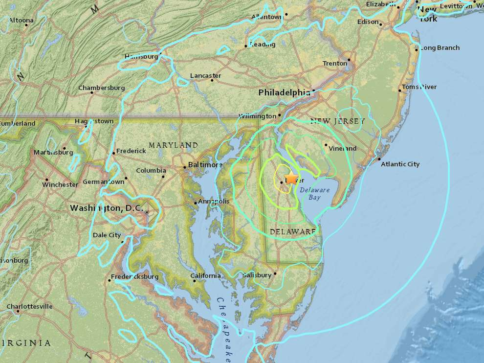 4.1 Magnitude Earthquake Rumbles DC Area