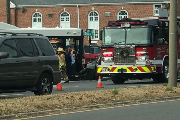 Crash involving Alexandria DASH bus on King Street