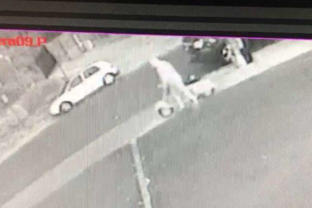 Earlier photo of Vespa theft in Westover (photo via the Italian Store)