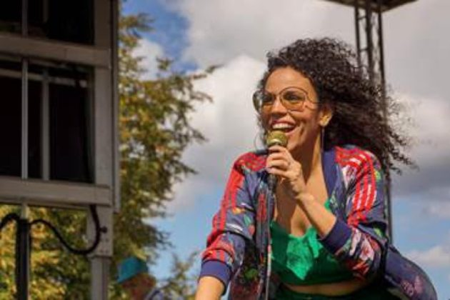 The edgy and prescient looping of Cuban-American jazz artist Xenia Rubinos was among the performers on the Rosslyn Jazz Festival stage, which is programmed by Arlington Arts, the presenting arm of Arlington Cultural Affairs.