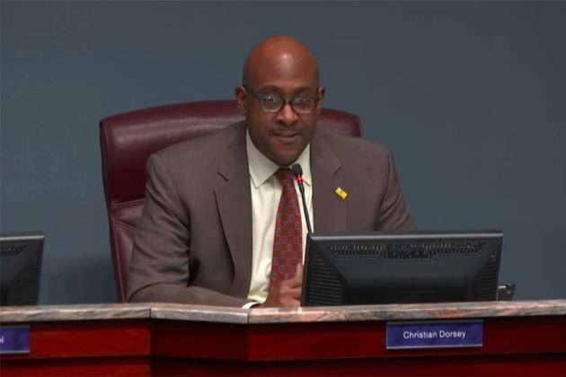 County Board vice chair Christian Dorsey