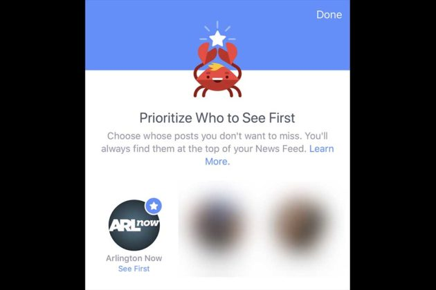 "Finally select or ""star"" profiles that you want to prioritize in your News Feed."