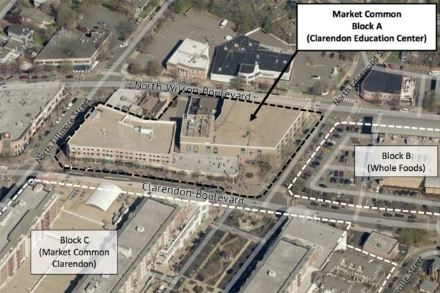 The redevelopment area (image via county staff report)