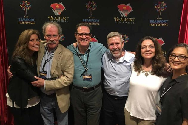 """Mike Kravinsky joins the team from """"Nothing to Do"""" at a film festival in South Carolina."""