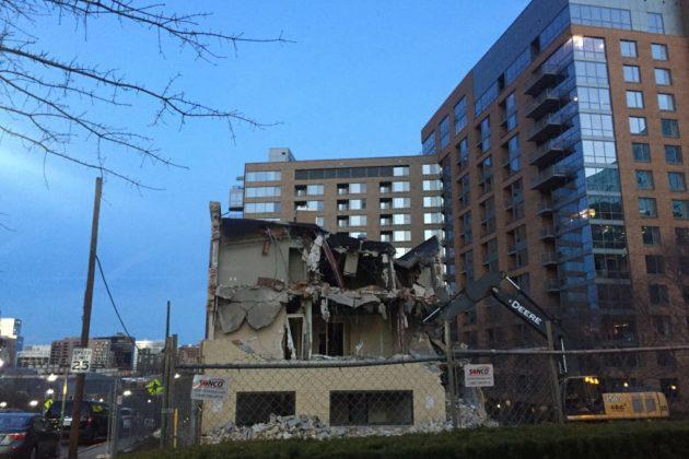Demolition at 2000 Clarendon Blvd