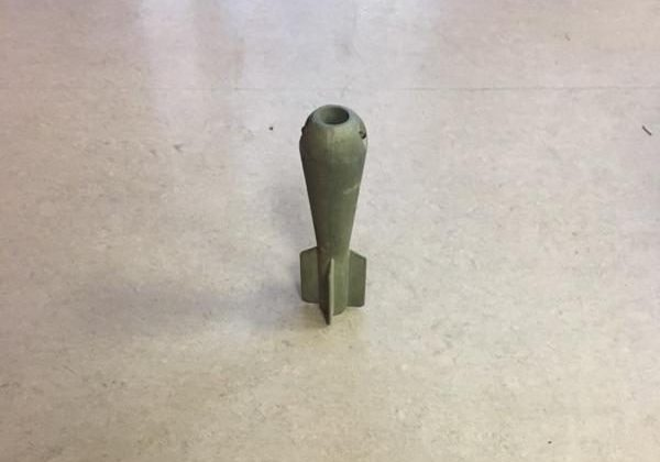 Mortar shell found in a Lyon Park home (photo courtesy ACFD)