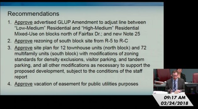 An explanation of the county staff's recommendation for the amendment.