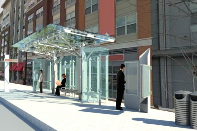 Rendering of new bus stop on Columbia Pike