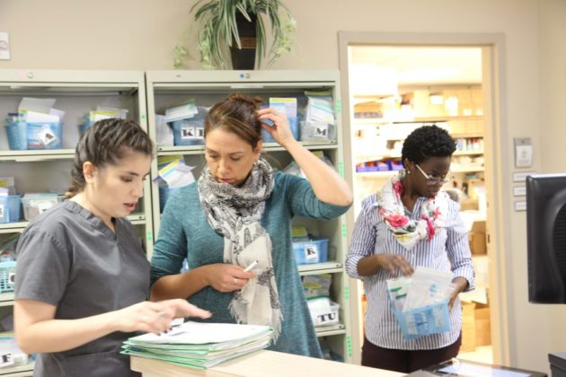Arlington Free Clinic staff at work