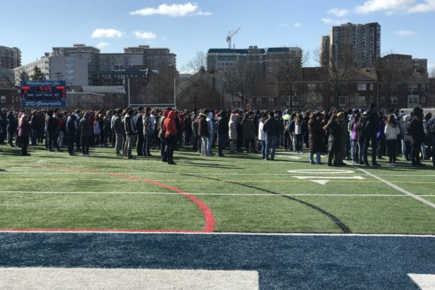 Washington-Lee student walkout on March 14