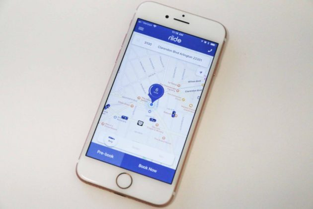 Riide taxi booking app