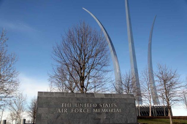 The Air Force Memorial can be seen in Transformers 3.