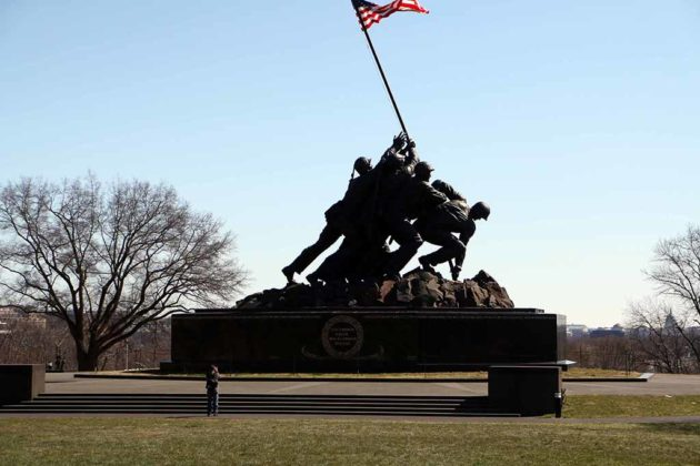The Marine Corps War Memorial was featured in The Next Karate Kid.