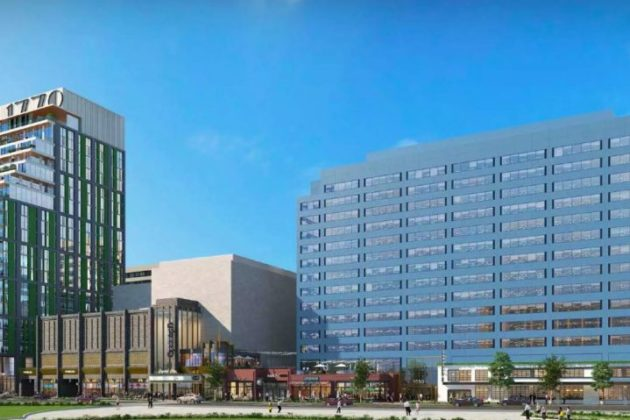 A rendering of a future Crystal City retail area (Photo via Arlington County)