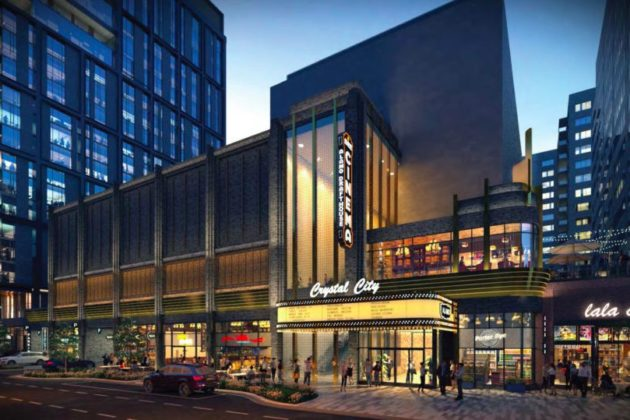 A rendering of a future Crystal City movie theater (Photo via Arlington County)