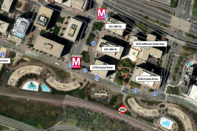 An overview of future Crystal City block development (Photo via Arlington County)