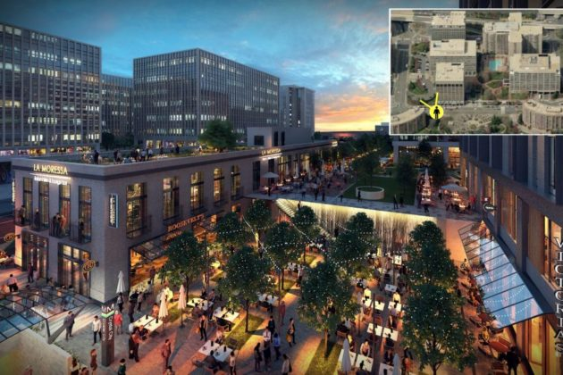 JBG rendering of retail building at 18th Street S. and Crystal Drive.