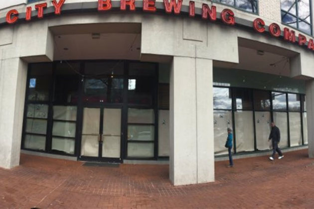 Capitol City Brewing closed in Shirlington (photo courtesy @007AgentPerry)