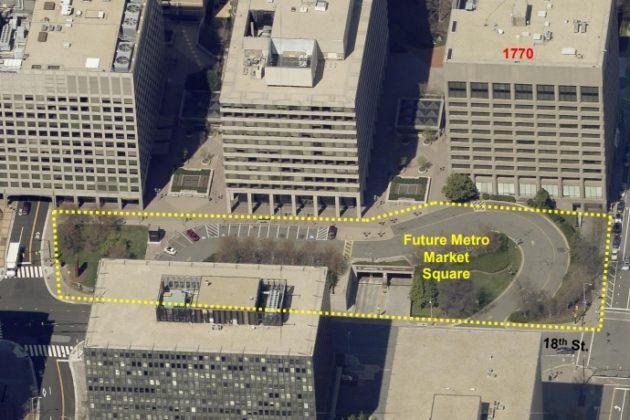 Rendering of new Market Square (photo via Arlington County)