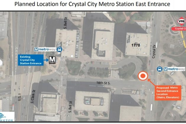 Rendering of new Crystal City east entrance (photo via Arlington County)