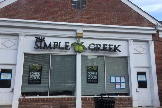 The Simple Greek's sign has gone up